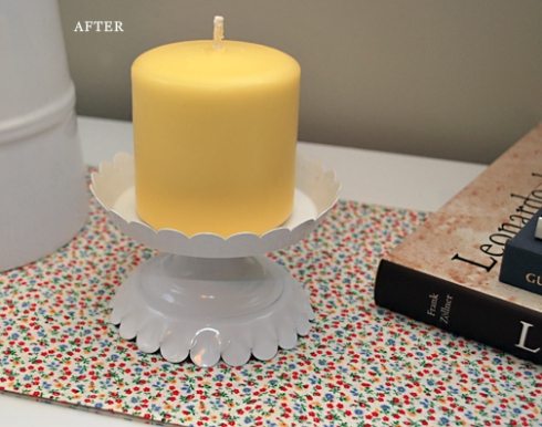 candle holder after white paint