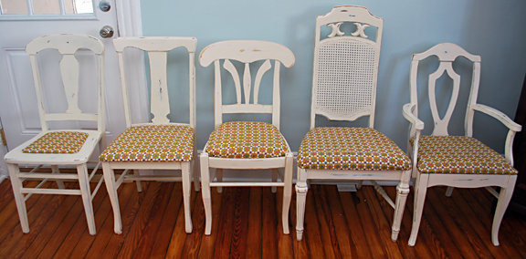dining room chairs- after