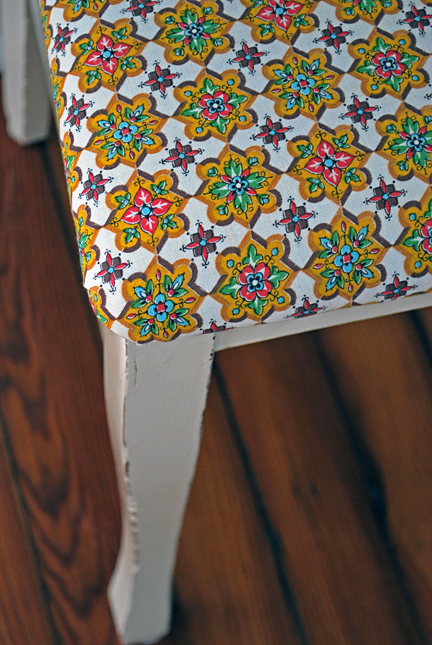 dining chair - close up after