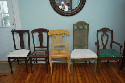 dining room chairs- before