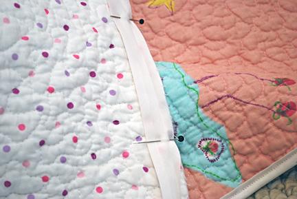 binding ella's quilt