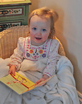 ella jade reading a book
