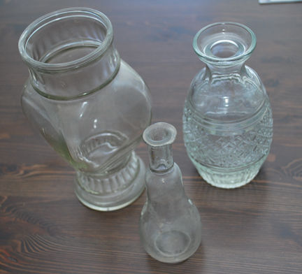 Glass Vases Before