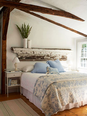 mantel as headboard