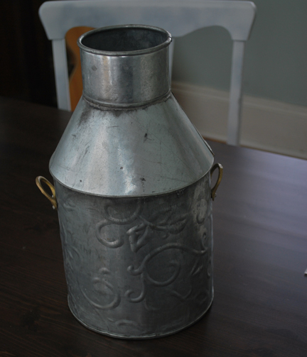 Large Tin Vase before