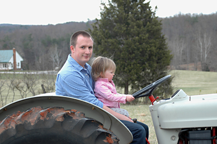Ella & Nathan on Tractor 3