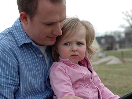 Ella & Nathan on Tractor 1