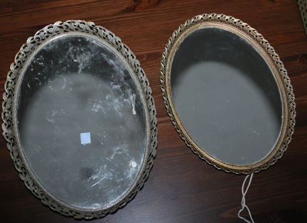 goodwill mirror trays before