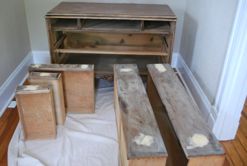 sanded dresser