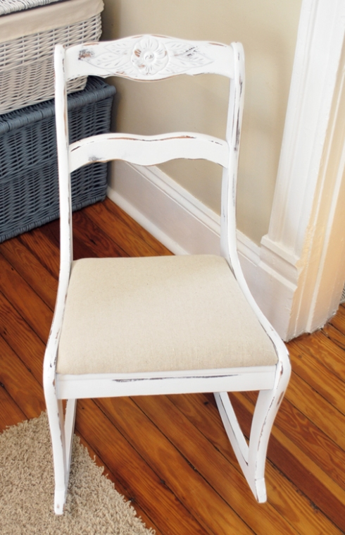 white rocker after