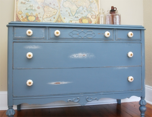 french grey dresser complete - six
