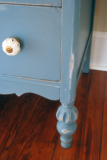 six french grey dresser detail