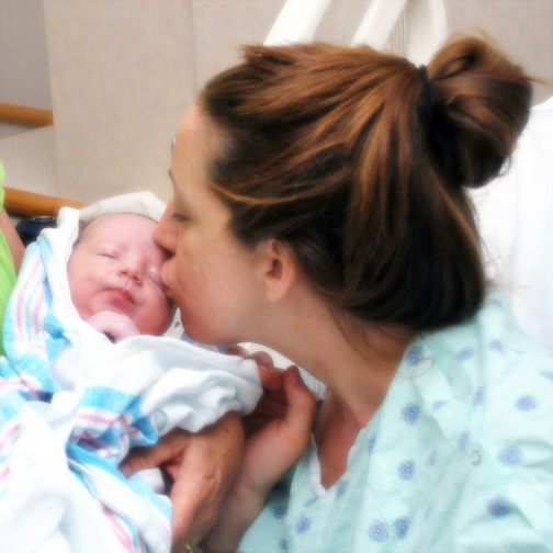 Lincoln only minutes old