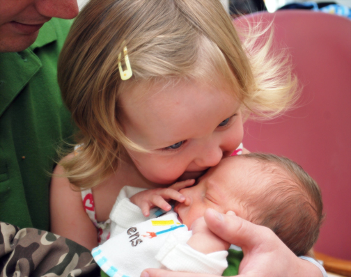 Ella kissing Lincoln for the first time