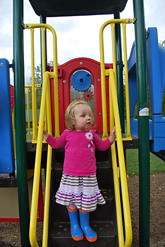 ella on playground in vt