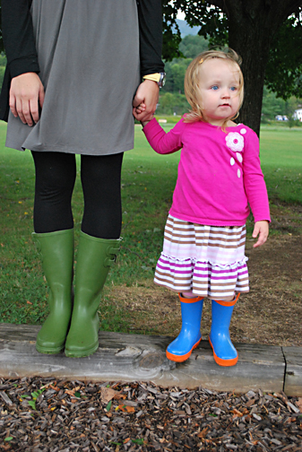 ella and mama in boots