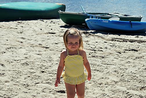 ella at the lake