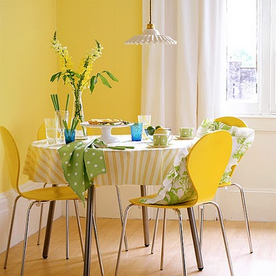 yellow dining room house to home