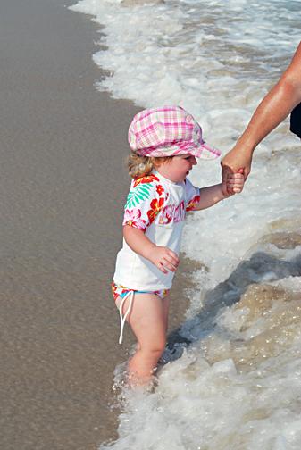 ella at the beach 2010