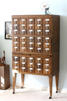 card catalog - small notebook