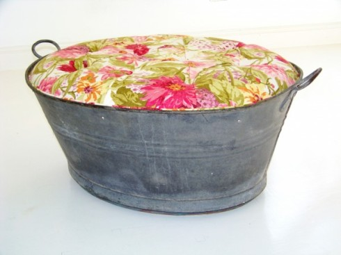 upholstered ottoman bath pale