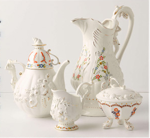 anthropology tea set